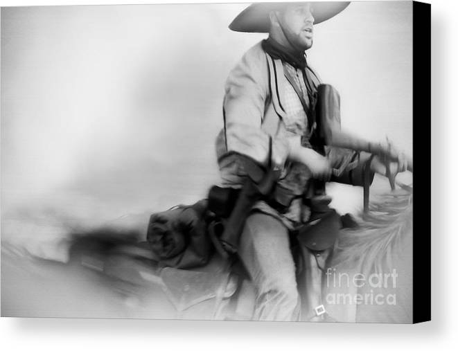 Reenactment Canvas Print featuring the mixed media Clearing Smoke by Kim Henderson