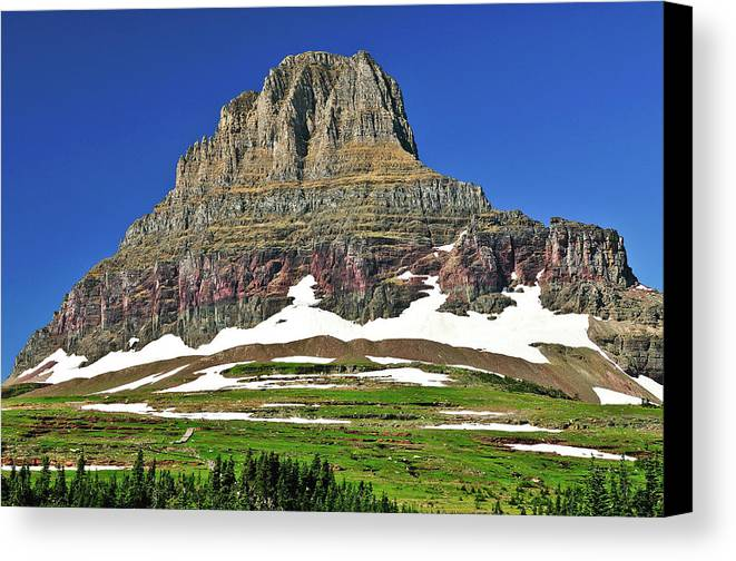 Clements Mountain Canvas Print featuring the photograph Clements Mountain by Greg Norrell