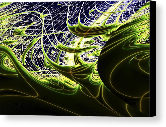Space Canvas Print featuring the digital art Climatic Space by Twilight Vision