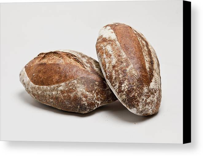 Horizontal Canvas Print featuring the photograph Close Up Of Loaves Of Bread by Henn Photography