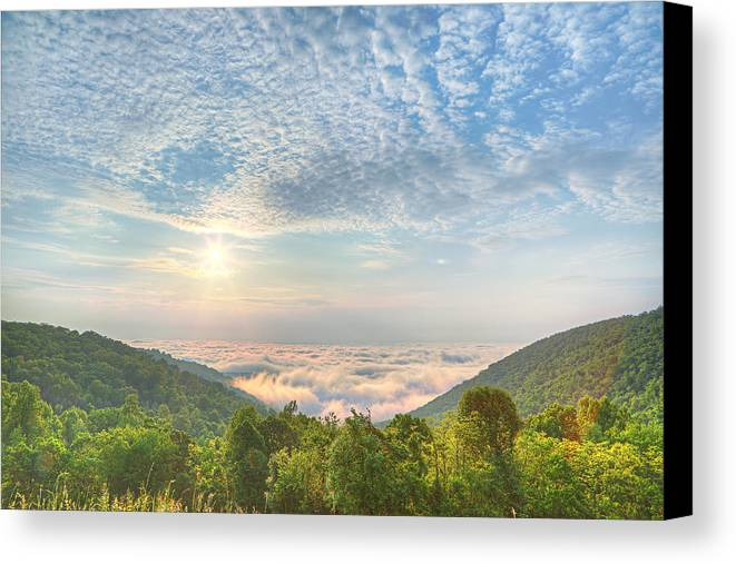 Metro Canvas Print featuring the photograph Cloud Sea by Metro DC Photography