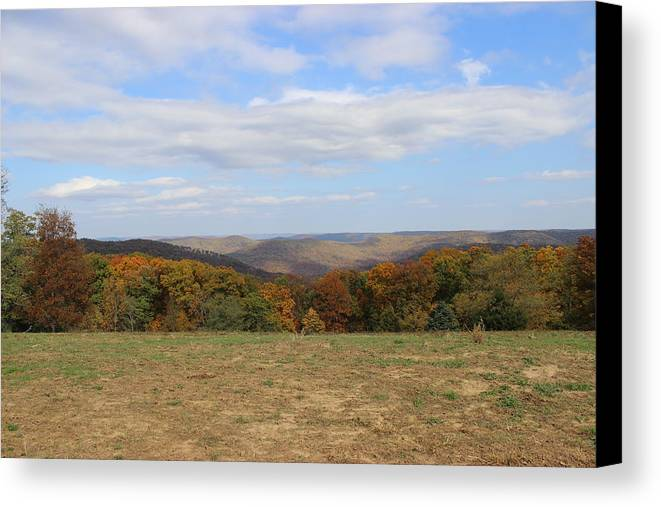 Landscape Canvas Print featuring the photograph Color Beyond The Field by Charlene Gretsch