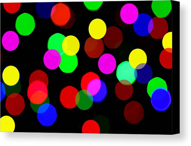 Bokceh Canvas Print featuring the photograph Colorful Bokeh by Paul Ge