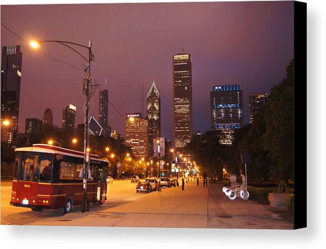 Street Canvas Print featuring the photograph Columbus Avenue by Gregory Lafferty