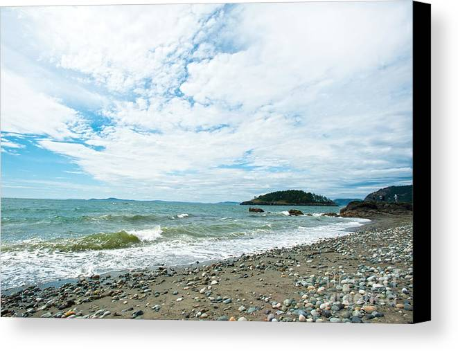 Rocky West Coast Beach Shore Canvas Print featuring the photograph Constant by Artist and Photographer Laura Wrede