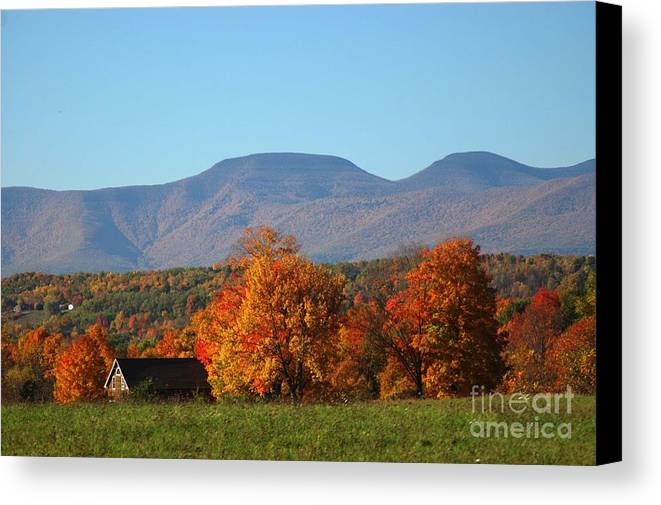 Fall Canvas Print featuring the photograph Coxsackie New York State by Mark Gilman