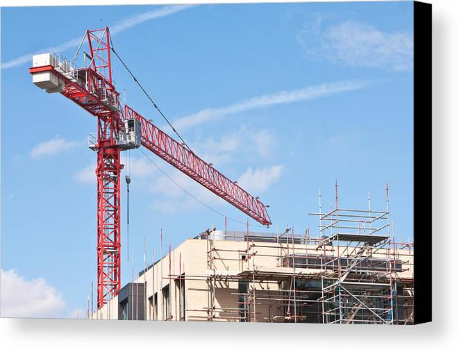 Apartment Canvas Print featuring the photograph Crane by Tom Gowanlock