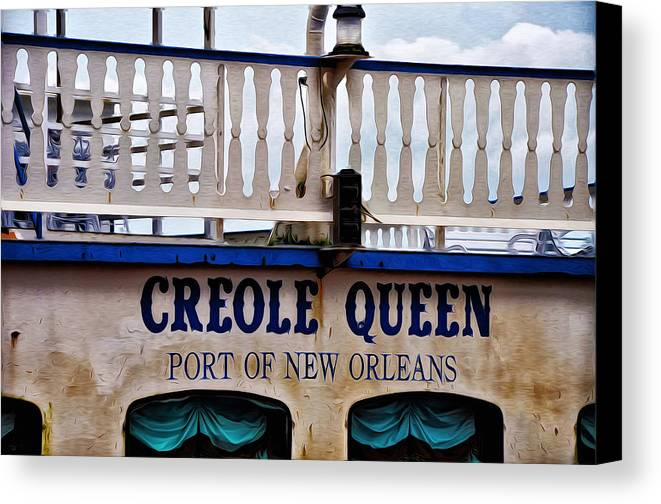 Creole Queen Canvas Print featuring the photograph Creole Queen by Bill Cannon