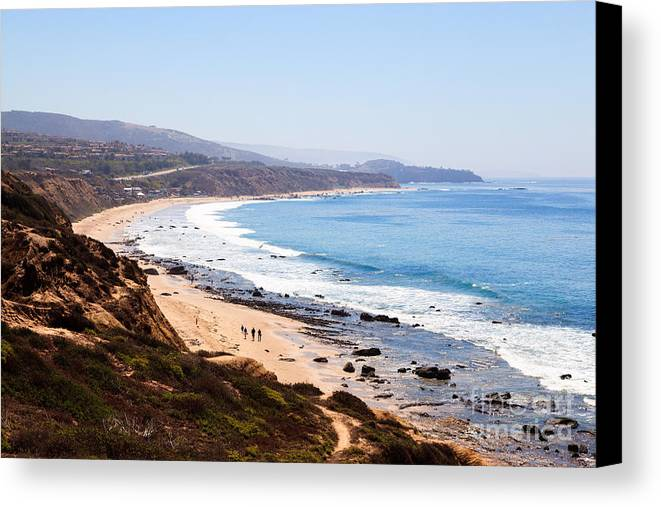 America Canvas Print featuring the photograph Crystal Cove Orange County California by Paul Velgos