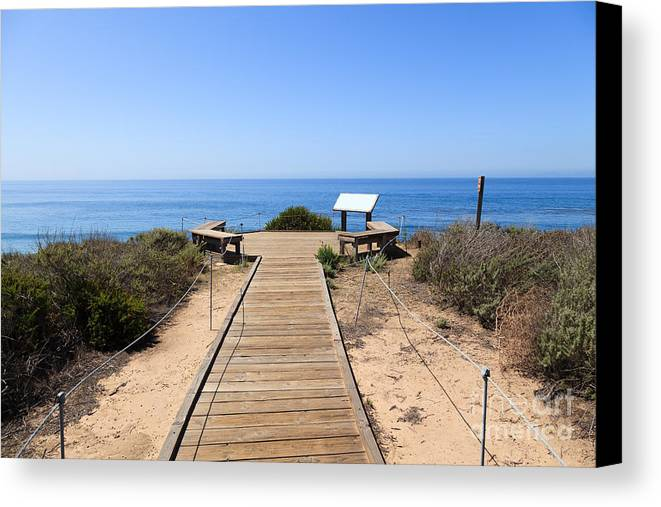 America Canvas Print featuring the photograph Crystal Cove State Park Ocean Overlook by Paul Velgos