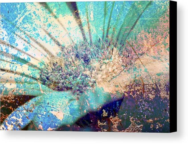 Photo Canvas Print featuring the photograph Crystal Pastel Blooms by Greg Sharpe