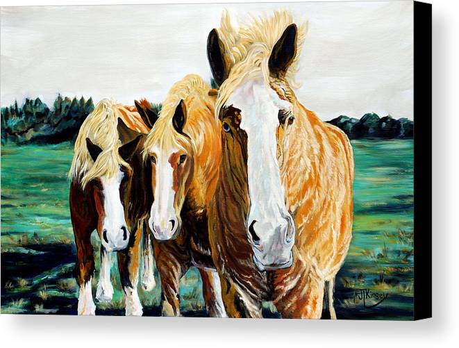 Canvas Print featuring the painting Curiosity by Mike Kinsey