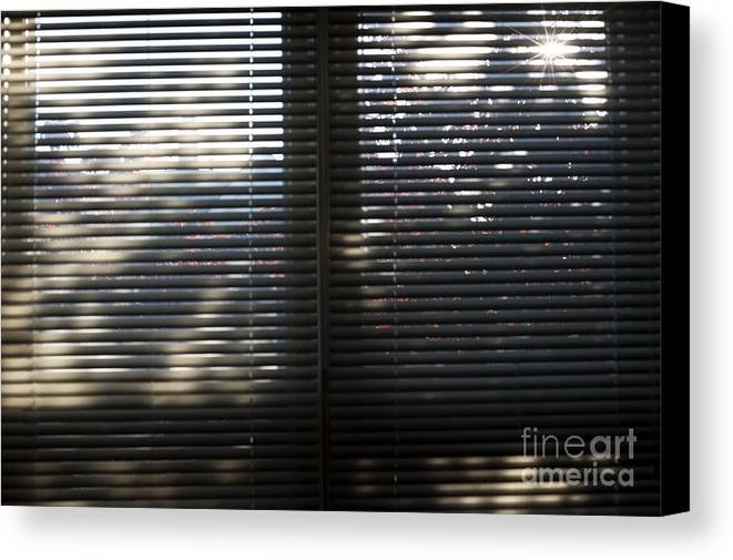 Blinds Canvas Print featuring the photograph Curtains by Steven Dunn