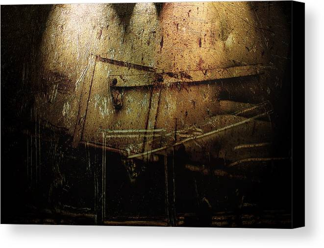 Metal Canvas Print featuring the digital art Dark Door by Janet Kearns