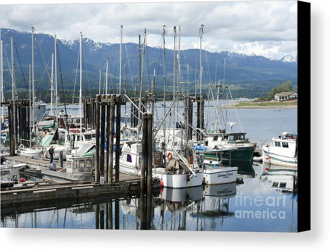 Deep Bay British Columbia Canvas Print featuring the photograph Deep Bay Harbor by Artist and Photographer Laura Wrede