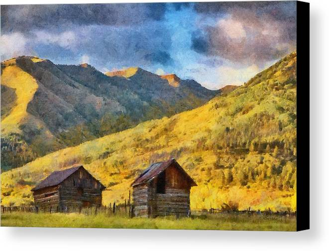 Colorado Canvas Print featuring the painting Distant Storm by Jeff Kolker