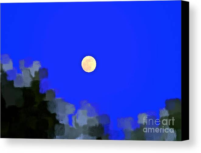 Moon Canvas Print featuring the photograph Distortion by Gwyn Newcombe