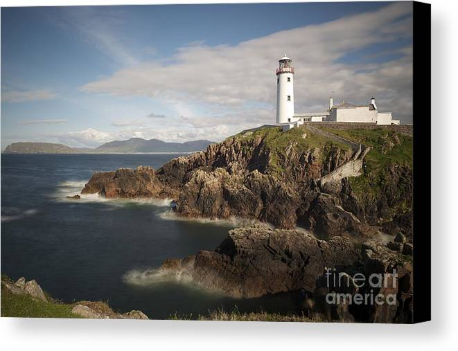 Irish Canvas Print featuring the photograph Donegal Lighthouse by Andrew Michael