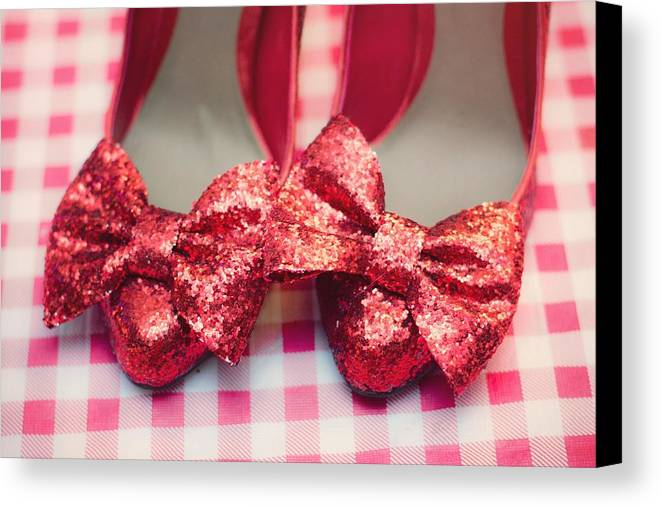 Horizontal Canvas Print featuring the photograph Dorothy Shoes by By Eleonore Bridge