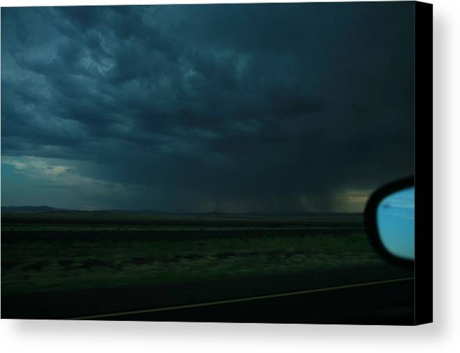 Storm Canvas Print featuring the photograph Driving Rain Number Two by Lon Casler Bixby