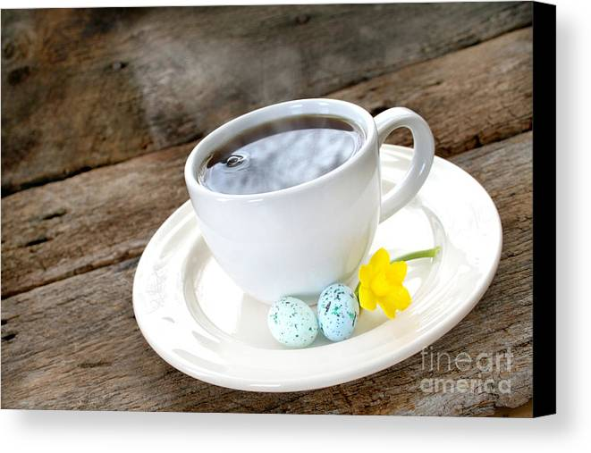Aroma Canvas Print featuring the photograph Easter Coffee by Darren Fisher