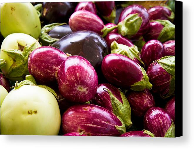 Vegetable Canvas Print featuring the photograph Eggplant Eggplant And Eggplant by Dina Calvarese