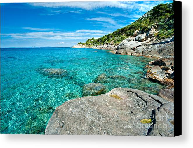 Atlantic Canvas Print featuring the photograph Elba - Sant'andrea by Luciano Mortula