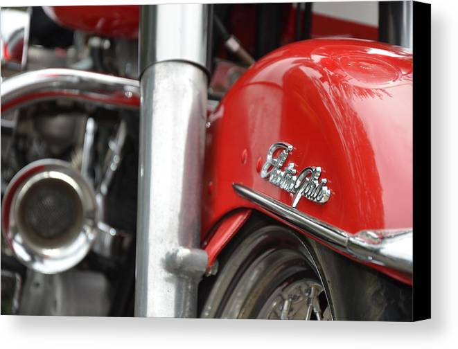 Harley Canvas Print featuring the photograph Electra Glide by Mark Bowmer