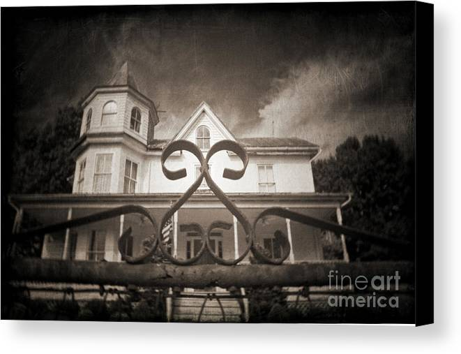 Gate Canvas Print featuring the photograph Enter If You Dare by Jane Brack