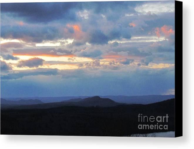Sunset Canvas Print featuring the photograph Evening Sky Over The Quabbin by Randi Shenkman