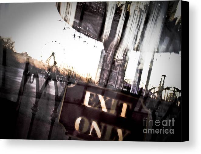 New Orleans Canvas Print featuring the photograph Exit Only by Pixel Perfect by Michael Moore