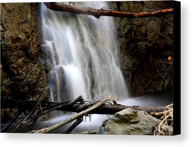 Waterfall Canvas Print featuring the photograph Falls by Leonard Sharp