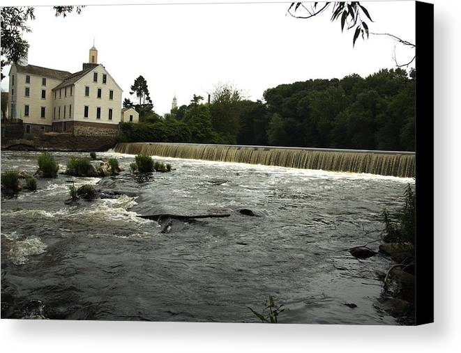Slater Mill Canvas Print featuring the photograph Far Side by Barry Doherty