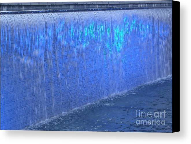 Water Canvas Print featuring the photograph Feeling Blue by David Peters
