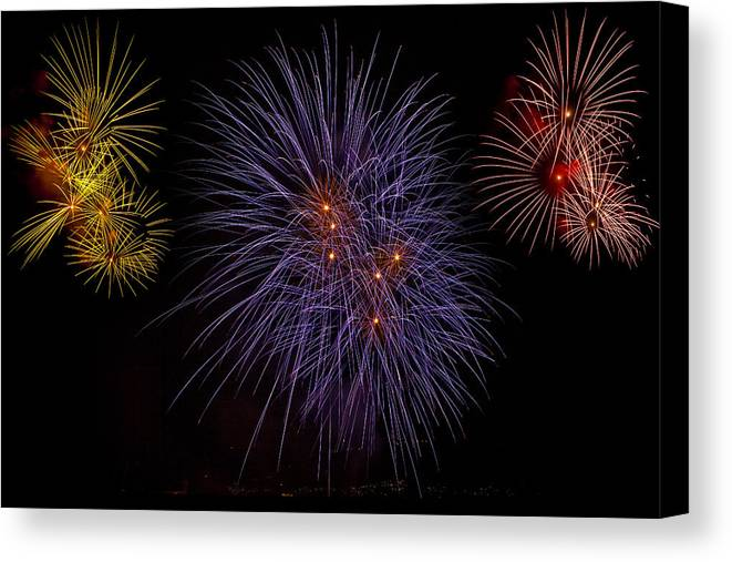 Fireworks Canvas Print featuring the photograph Fireworks by Joana Kruse