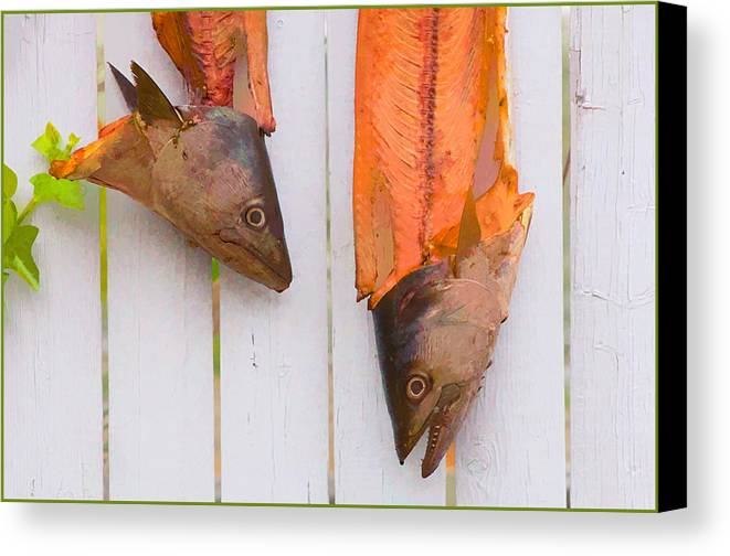 Fish Canvas Print featuring the photograph Fish Heads by Steve Zimic
