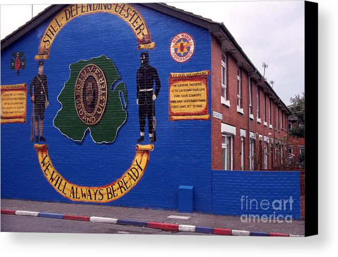 Newtownards Road Canvas Print featuring the photograph Freedom Corner Mural Belfast Northern Ireland by Thomas R Fletcher
