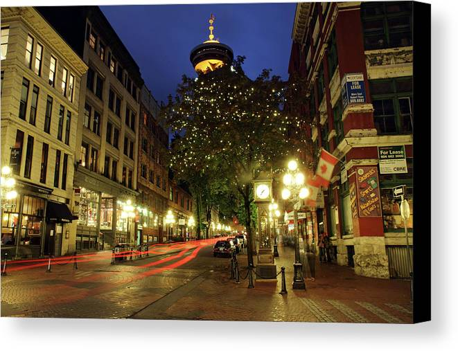 Gastown vancouver steam clock canvas print canvas art by pierre gastown canvas print featuring the photograph gastown vancouver steam clock by pierre leclerc photography reheart Images