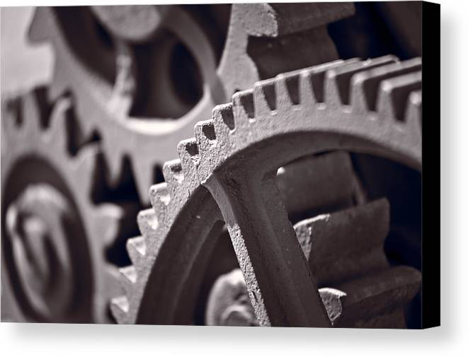 Gear Canvas Print featuring the photograph Gears Number 3 by Steve Gadomski