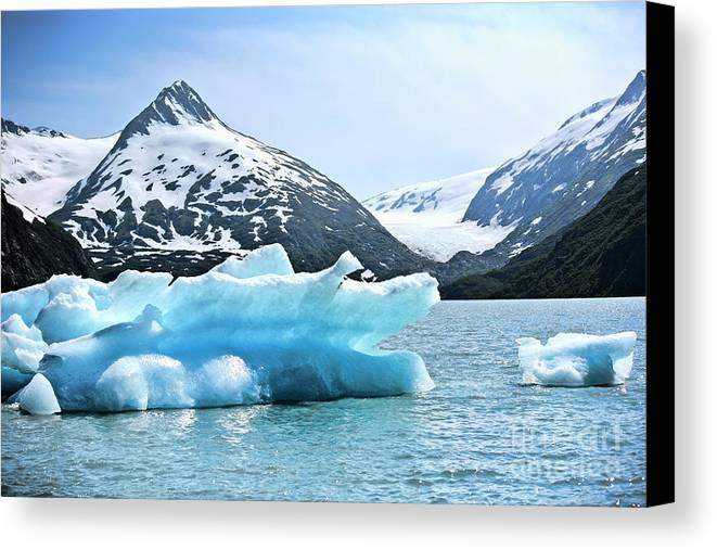 Alaska Canvas Print featuring the photograph Glacier Remnants by Chuck Kuhn