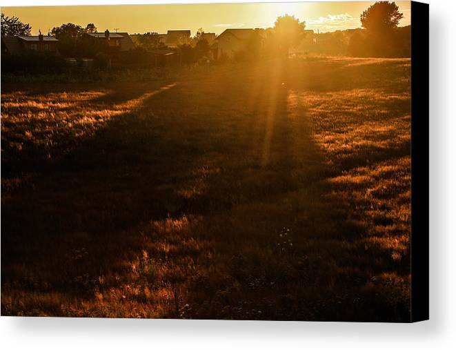 Sunset Canvas Print featuring the photograph Goodbye... by Beata Bienkowska