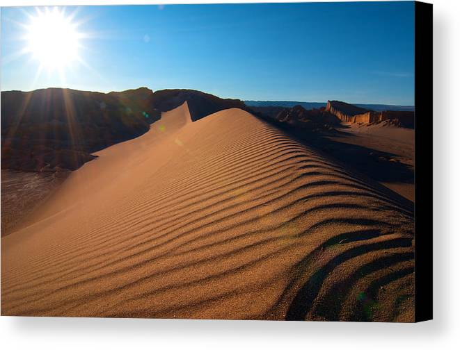 Atacama Canvas Print featuring the photograph Great Dune - Valle De La Luna - Atacama Desert by Andre Distel