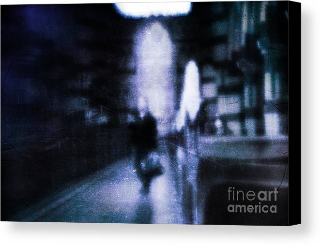 Blue Canvas Print featuring the photograph Haunted by Andrew Paranavitana