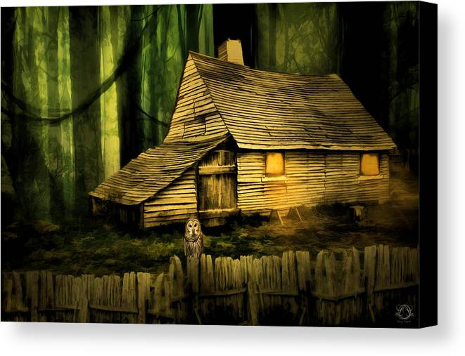 Haunted Barn Canvas Print featuring the photograph Haunted Shack by Lourry Legarde