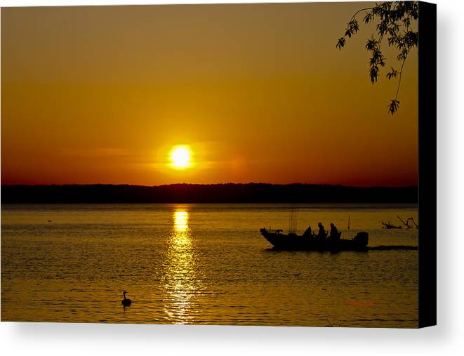 Sunset Canvas Print featuring the photograph Headed Out by Timothy J Berndt