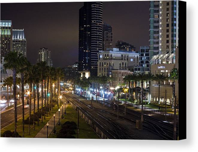 City Canvas Print featuring the photograph Heart Of The City by Benjamin Street