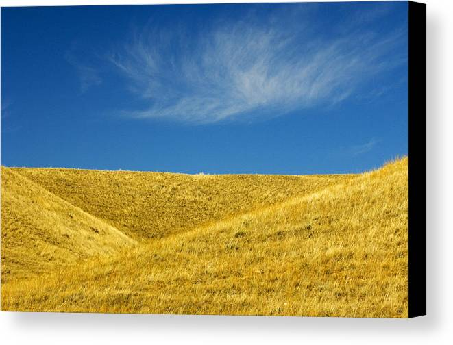 Agriculture Canvas Print featuring the photograph Hills And Clouds, Cypress Hills by Mike Grandmailson