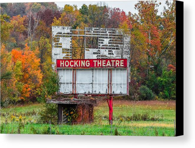 Drive-in Canvas Print featuring the photograph Hocking Theatre by Brian Stevens