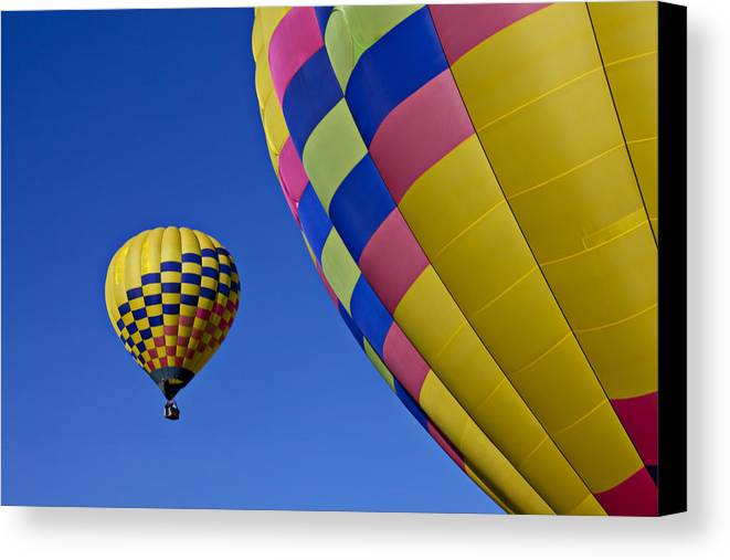 Hot Air Balloons Canvas Print featuring the photograph Hot Air Balloons by Garry Gay