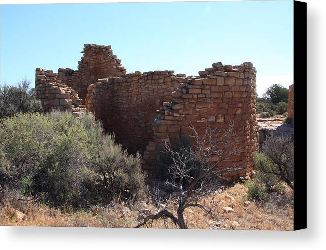 Hovenweep National Monument Canvas Print featuring the photograph Hovenweep House by Cynthia Cox Cottam